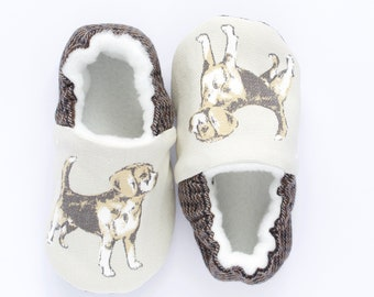 beagle dog print shoes, boys pre walkers and toddlers