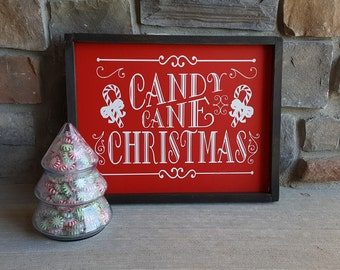 Christmas Candy Cane Sign