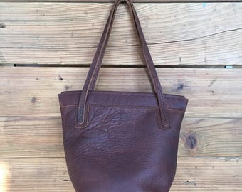 Leather tote bag - sometimes smaller is better!