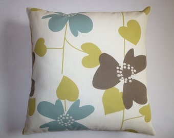 "Cushion Pillow Cover Green Blue Designer Decorative Pillowcase Sham Slips Accent Throw Pillow. ONE x 16"" (40cm)"