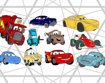 lightning mcqueen svg, Disney Cars Svg, Layered Cars movie Svg, Dxf, Eps & Png Cutfiles, Cars files for Cricut, Svg, dxf, png, eps,pdf