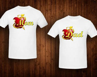 family shirts Descendants birthday theme mom of the birthday girl dad of the birthday girl