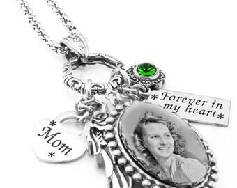 Memorial Loss Necklace, Keepsake Necklace, Photo Keepsake Pendant, Personalized Keepsake ,Memorial Pendant, Memory Keepsake, Memory Pendant