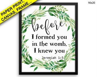 Jeremiah Canvas Art Jeremiah Printed Jeremiah Bible Art Jeremiah Bible Print Jeremiah Framed Art Jeremiah watercolor leaf christian art