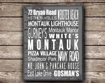 Montauk, Long Island  - Printable Poster  - Made to Order