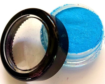 "Bright Blue Shimmer Eye Shadow - Neon - ""BLUEBERRY"" - Free U.S. Shipping - Mineral Makeup - Eyeshadow"
