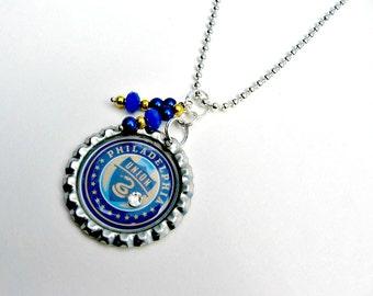 Philadelphia Union Soccer Necklace, Philadelphia Union Jewelry, Soccer Necklace, Sports Jewelry, Philadelphia Union Accessories, Soccer Mom