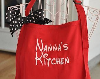 Monogrammed Apron, Personalized Apron, Kitchen Apron, Custom Apron, Monogrammed Grilling Apron, Dad Gift, Nonnie, Grandma