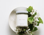 Rose + Citrus scented candle | Soy candle | Candles, Gift Idea Home Decor