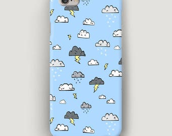 Angry Сlouds iPhone 5 Case, Blue Phone Case, Storm iPhone SE Case, iPhone 4 Case, Galaxy S6 Case, Phone Cover, Apple Case, Case for iPhone 7