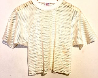 80s /90s Vintage Mesh Cropped Jersey large wt08310
