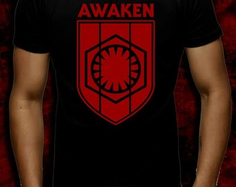 "Star Wars - FIRST ORDER  ""AWAKEN""  Crest Graphic T-Shirt"