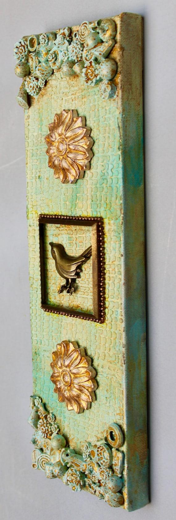 3D Bird Art Original Wall Art Mixed Media Bird Art One