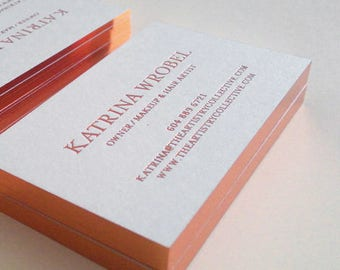Foil business card etsy luxury business card design and print business card with rose gold foil stamping and gold edge colourmoves