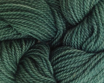 Merino Wool Yarn Lace Weight in Avocado Green Hand Painted