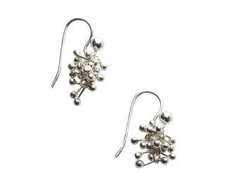 Sterling Silver Small Cluster Earrings - Everyday Earrings