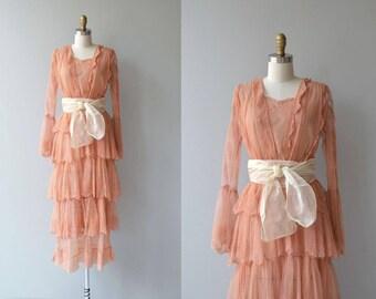 Saltarello dress | antique 1910s dress | lace Edwardian dress