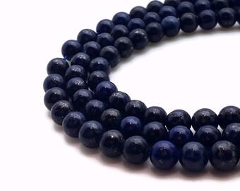 14mm Natural Lapis Lazuli Beads Round 14mm Lapis Lazuli 14mm Lapis 14mm Beads Lapis Large Lapis Blue Lapis Lazuli Gemstone