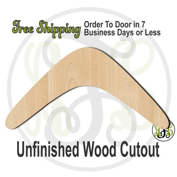 Boomerang - No. 60020- Cutout, unfinished, wood cutout, wood craft, laser cut shape, wood cut out, Door Hanger, wooden, wall art