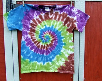 Youth Large Swirl Tie Dye T-shirt - Mystic Forest - Ready to Ship