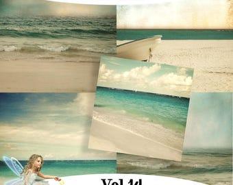 Commercial Use Vol 14 - Vintage Sea Backgrounds - JPG files - Digital Scrapbooking - Clip Art - Photoshop/PSP Users