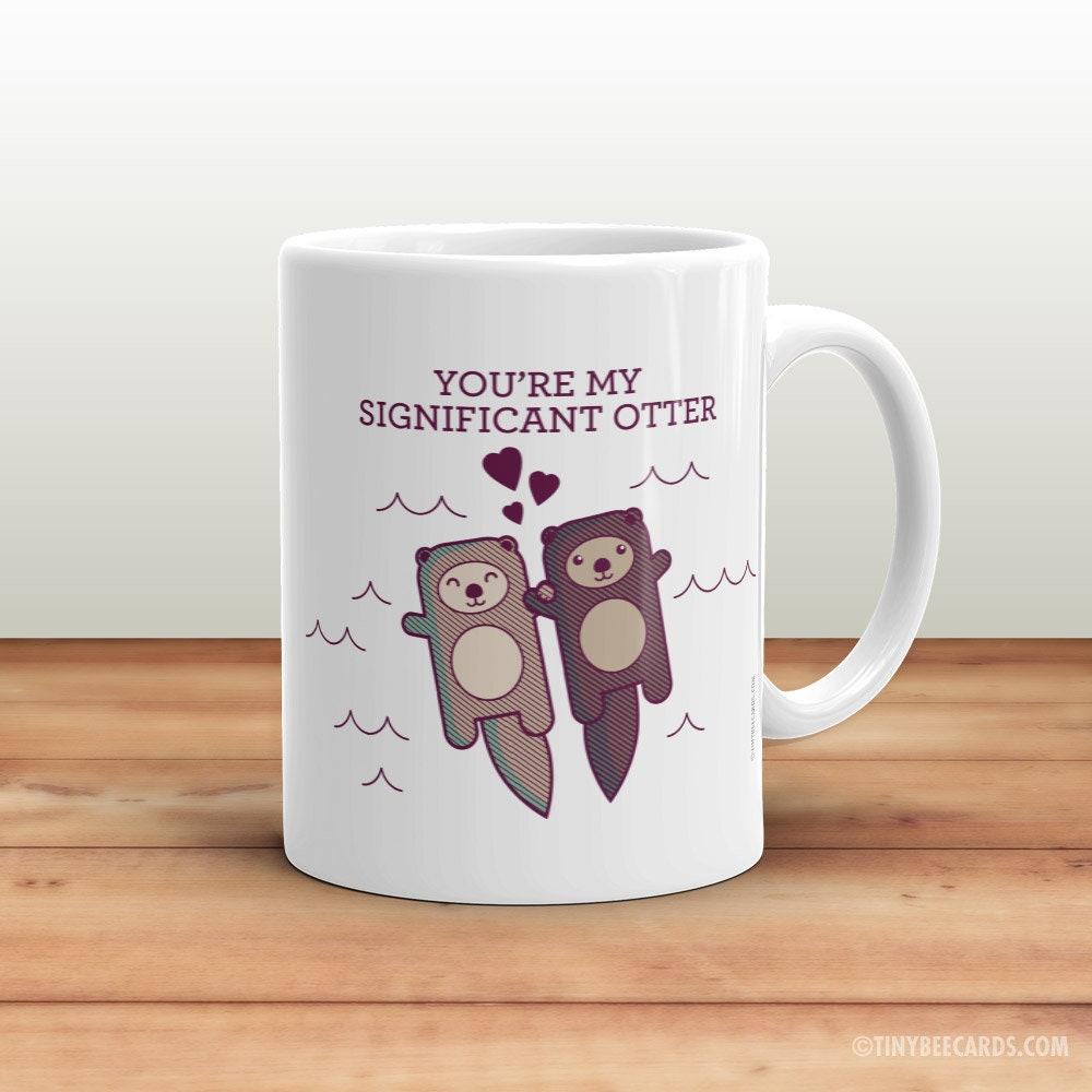 Erhebliche Otter Kaffeebecher Geschenk für Freund Freundin