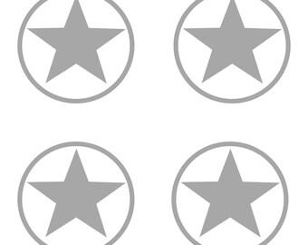 Printed fabric circles and stars