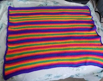 Rainbow Striped Baby Blanket