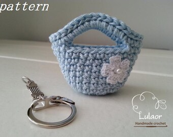 Crochet keychain pattern, Instant download pattern, Crochet bag keychain pattern, Tote bag keychain, crochet pattern