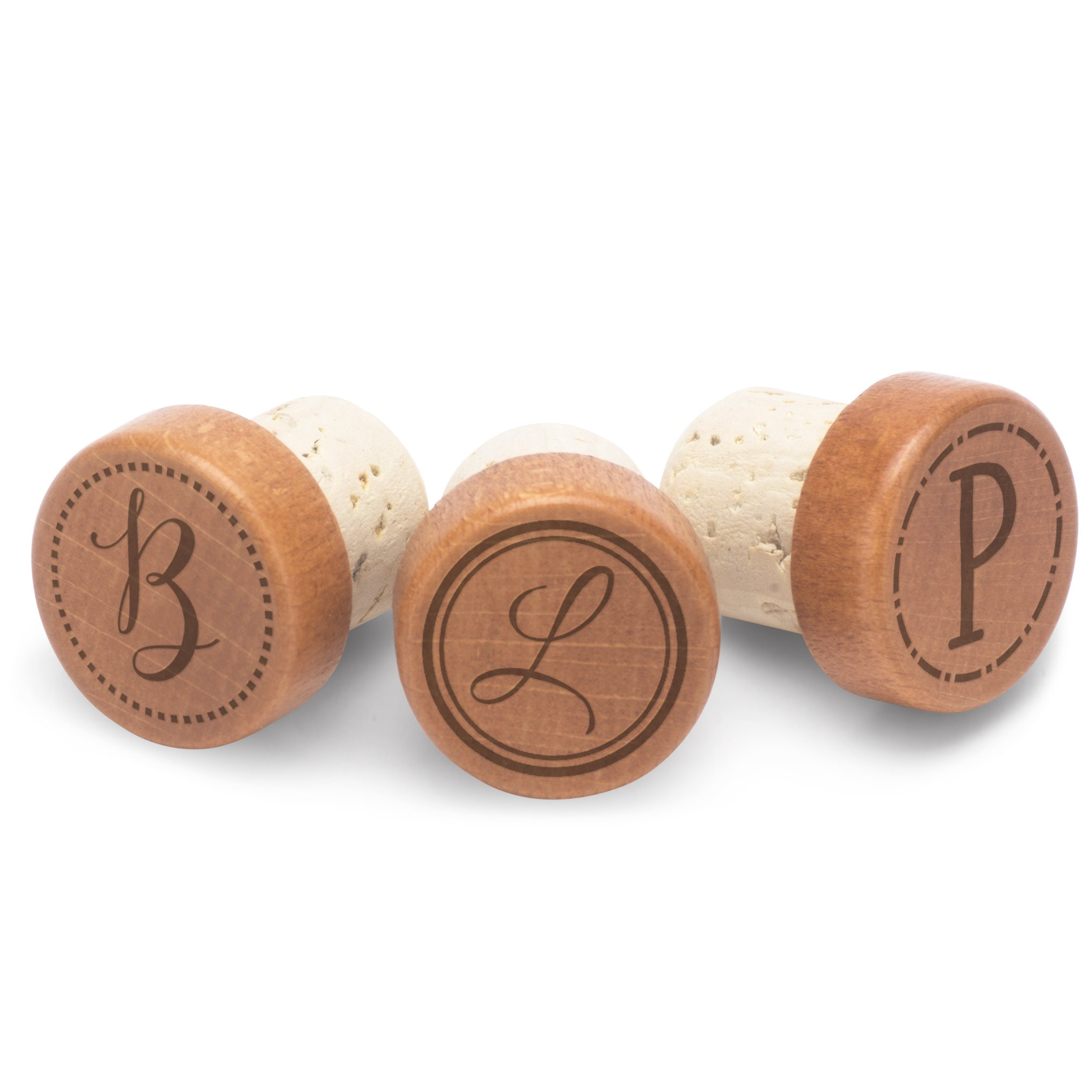 Monogrammed Wooden Wine Stopper Favors Gifts Birthday