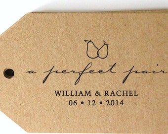 A Perfect Pair SAVE the DATE pre inked custom stamp, pre inked custom stamp,  custom address stamp with proof - c6-30