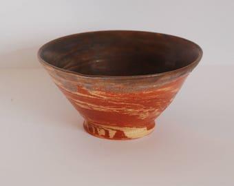 Handmade ceramic bowl - Coloured swirl - Ready to Ship