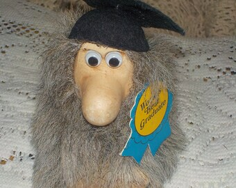 Graduation, Graduation Gift, Rare 1985 Paula Worlds Best Graduate,  Guy with Beard, Guy, :)*