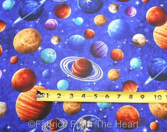 Solar System Planets Stars Space Across The Universe BY YARDS Northcott Cotton Fabric