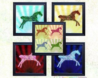 "Horse - 12"" x 12"" HD Digital Prints"