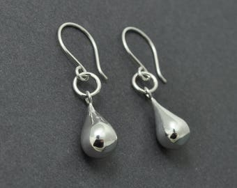 Tear Drop Earrings, Sterling Silver Dangle Earrings, Silver Drop