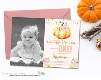Pumpkin invitation first birthday our little pumpkin 1st pumpkin invitation pumpkin birthday invitation pumpkin 1st birthday invitation 1st birthday invitation filmwisefo Image collections