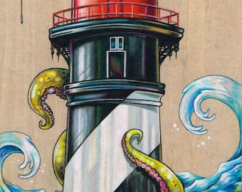 Lighthouse Print - A Tangled Attraction