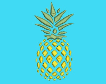 Pineapple machine embroidery desing  Instant Download