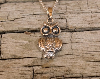 Owl Pendant, Owl Gifts, Owl Necklace Charm, Owl Jewellery, Silver Pendant, Sterling Silver, Sterling Silver Owl, Pendant Only