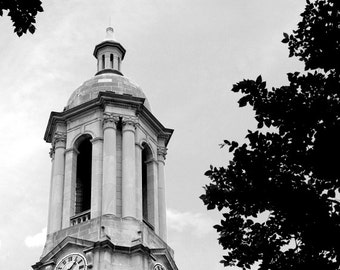 Penn State Photography Old Main Graduation Campus Photo Black and White, Old Main 2, Nittany Lions, Large Wall Art, 20x24 inch Print