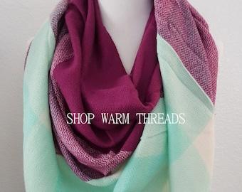 Blanket Scarf, Plaid blanket scarf, Tartan plaid scarf, Triangle scarf, Tartan scarf, Oversized scarf, Oversized plaid scarf, monogrammed