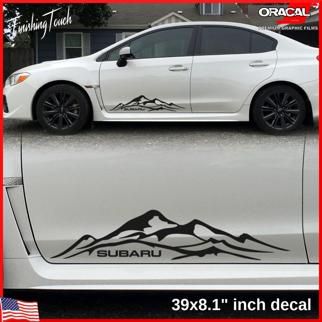 Mountain Graphic Subaru Decal Vinyl Mountains Quality Oracal