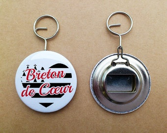 "Keychain bottle opener ""Breton heart"""