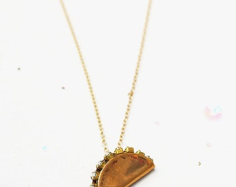 Taco Tuesday gold filled necklace