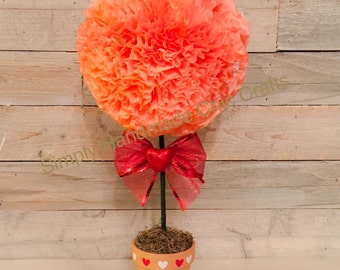 Paper flower topiary etsy valentines day decor paper flower topiary floral arrangement perfect gift wedding centerpiece mightylinksfo