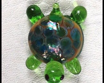 Handmade Artisan Lampwork Turtle Bead by Mystic Moon Beads SRA U5