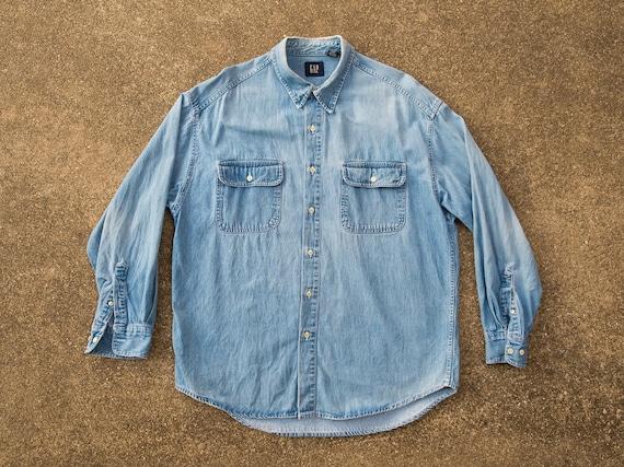 Vintage Gap Shirt 1990s Twill Shirt 1990s Grunge Shirt 90s Fashion Shirt 1990s Baggy Shirt 90s Gap Heavyweight Shirt Baggy Grunge Outdoors W4AUh5H0ZC