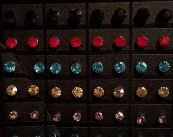 Multi Color Jewel Earrings