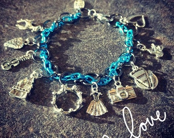 The Selection inspired Charm Bracelet